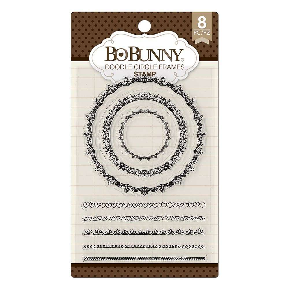 BORDAS - BB DOODLE CIRCLE FRAMES STAMP